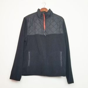 Prince and Fox Quilted Fleece V-Neck Pullover